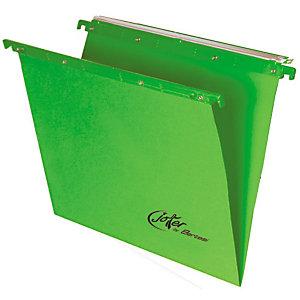 BERTESI Joker Cartelle sospese per cassetti, Interasse 39 cm, Fondo a V, Verde (confezione 10 pezzi)