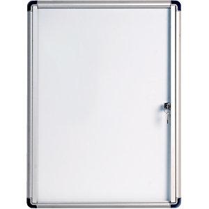 Bi-Office Bacheca Enclore Budget, Superficie magnetica in acciaio laccato, Cornice in alluminio, 4 fogli formato A4