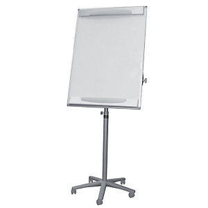 BI-OFFICE Chevalet mobile design, surface magnétique effaçable à sec, cadre gris, 700 x 1 000 mm