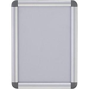Bi-Office Cornice da parete con chiusura a scatto e angoli arrotondati, Alluminio, Formato A0