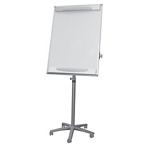 Bi-Office Design, caballete portátil, superficie de borrado en seco magnética, marco gris, 700 x 1000mm