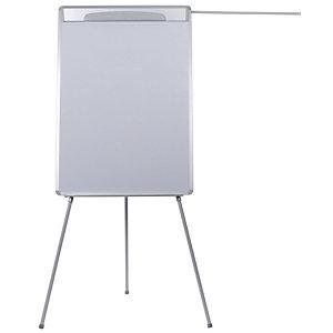 BI-OFFICE Design flip-over op driepoot, droog afneembaar magnetisch oppervlak, grijs frame, 700 x 1000 mm