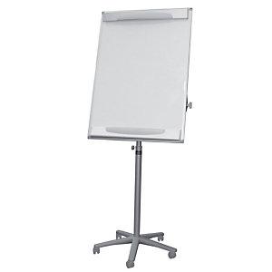 BI-OFFICE Design mobiele flip-over, droog afneembaar magnetisch oppervlak, grijs frame, 700 x 1000 mm