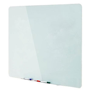 Bi-Office Lavagna magnetica cancellabile a secco in vetro, Superficie in vetro temperato bianco, Spessore vetro 4 mm, 1500 x 1200 mm