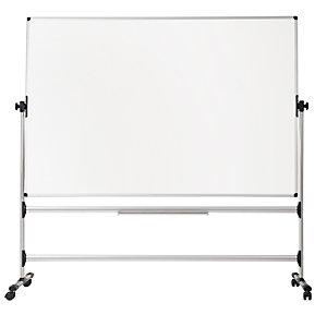Bi-Office Lavagna orientabile Earth , Superficie magnetica smaltata, Cornice in alluminio, Bifacciale, 120 x 150 cm