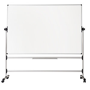 Bi-Office Lavagna orientabile Earth, Superficie magnetica smaltata, Cornice in alluminio, Bifacciale, 120 x 90 cm