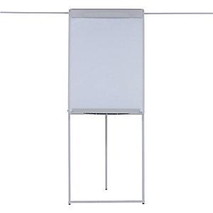 Bi-Office Lavagna portablocco con barra di supporto posteriore, Magnetica, 700 x 1000 mm