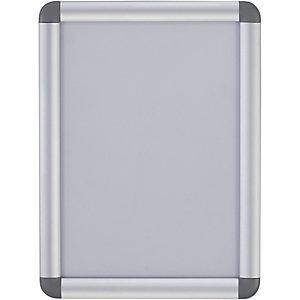 Bi-Office Marco tipo clip curvado de pared, aluminio, tamaño A1