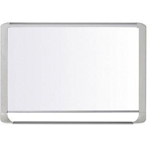 Bi-Office MasterVision Lavagna magnetica, Superficie in acciaio laccato bianco brillante, Cornice grigio chiaro, 600 x 900 mm
