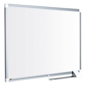 Bi-Office Maya New Generation, pizarra blanca, magnética, superficie de acero lacado, marco de aluminio gris, 900 x 600 mm