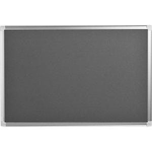 Bi-Office Maya New Generation, Tablón de fieltro, marco de aluminio, 900 x 600 mm, gris