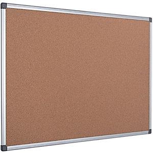 Bi-Office Maya Pannello in sughero, Cornice in alluminio, 900 x 600 mm
