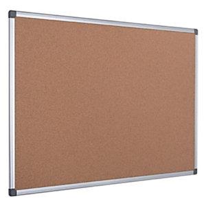 Bi-Office Maya, Tablón de corcho, marco de aluminio, 900 x 600 mm, marrón