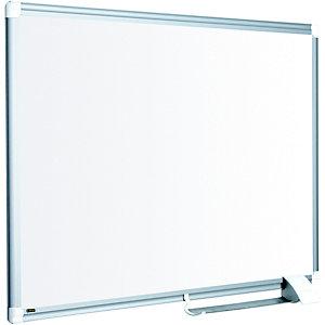Bi-Office New Generation Maya Lavagna, Superficie non magnetica in acciaio ceramica bianco, Cornice in alluminio grigio, 180 x 90 cm