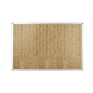 BI-OFFICE Tableau d'affichage en liège naturel Confort - 90 x 120 cm - cadre aluminium