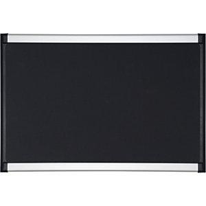 Bi-Office Tableau d'affichage en mousse texturée, cadre aluminium et plastique, noir, 1 200 x 900 mm
