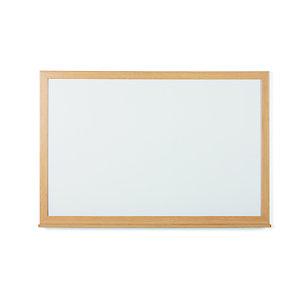 Bi-Office Tableau blanc Earth recyclable Acier laqué magnétique 60 x 45 cm - Cadre bois Chêne