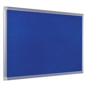 Bi-Office Tableau en feutrine Maya New Generation, cadre en aluminium, bleu, 1200x900mm