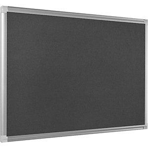 Bi-Office Tableau en feutrine Maya New Generation, cadre en aluminium, gris, 1200x900mm