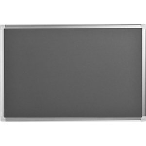 Bi-Office Tableau en feutrine Maya New Generation, cadre en aluminium, gris, 900x600 mm