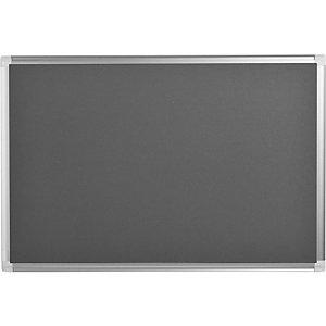 BI-OFFICE Tableau en feutrine Maya New Generation, cadre en aluminium, gris, 900 x 600 mm