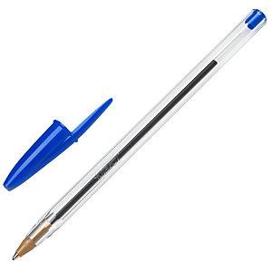 BIC® Cristal Original Penna a sfera Stick, Punta media 1 mm, Fusto traslucido, Inchiostro blu (confezione 50 pezzi)