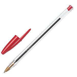 BIC® Cristal Original Penna a sfera Stick, Punta media 1 mm, Fusto traslucido, Inchiostro rosso (confezione 50 pezzi)