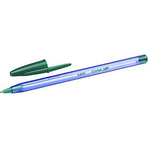 BIC® Cristal Soft Bolígrafo de punta de bola, punta de 1,2mm, cuerpo azul claro transparente, tinta roja