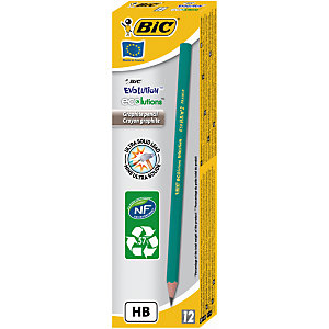 BIC® ECOlutions Evolution Lápiz de grafito, mina HB, cuerpo hexagonal verde