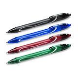 BiC Gelocity Quick Dry Bolígrafo retráctil de gel, punta fina de 0,7 mm, cuerpo verde con grip, tinta verde
