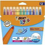 BiC Kid Couleur XL Estuche de 12 rotuladores