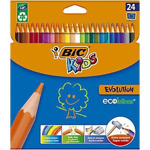 BIC Kids Ecolutions™ Evolution™ kleurpotloden, zeshoekige huls, loodstiften assorti