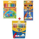 BiC Kids Pack Dibujar y Pintar: ceras, lápices y rotuladores de colores