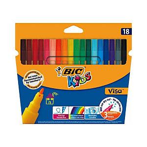 Bic Kids Visa Feutres De Coloriage Pointe Fine 0 9 Mm Pochette De 18 Couleurs Assorties Crayons Feutresfavorable A Acheter Dans Notre Magasin