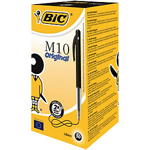 BIC® M10 Original Stylo bille rétractable pointe moyenne 1 mm noir