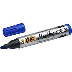BIC® Marking 2000 ECOlutions - Marqueur permanent pointe ogive trait 1.7 mm - Bleu