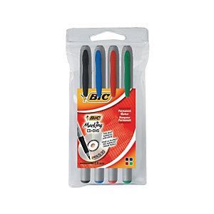BiC Marking™ CD-DVD Marcatore permanente, Colori assortiti (confezione 4 pezzi)