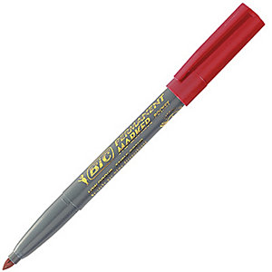 BIC® Marking Pocket 1445 ECOlutions - Marqueur permanent pointe ogive trait 1.1 mm - Rouge