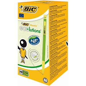 BIC® Matic ECOlutions, porte-mines, mine HB de 0,7mm, corps vert