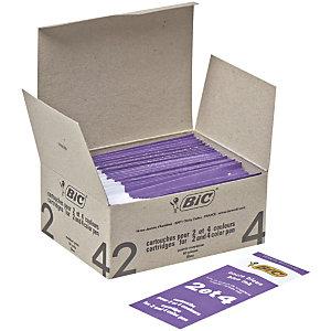 BIC® Recharge d'encre pour stylo à bille, pointe moyenne de 0,4 mm, encre bleue