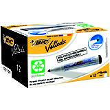 BiC Velleda® 1701 Ecolutions™ Rotuladores para pizarra blanca, punta ojival, 2,3 mm, negro + Velleda® Pocket Rotuladores con tinta líquida para pizarra blanca, punta ojival, 1,4 mm, negro, azul y rojo