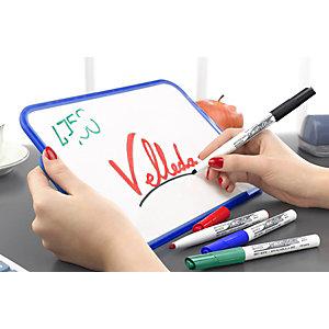 BIC® Velleda 1741 Marqueur effaçable tableau blanc pointe ogive 1,4 mm - Pochette 4 couleurs (noir, bleu, rouge, vert)