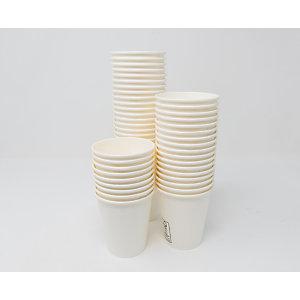 Bicchiere monouso in cartoncino e PLA, Ecologico, Per bevande calde e fredde, Capacità 180 ml, Avana chiaro (confezione 1.000 pezzi)