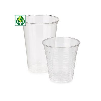 Bicchieri in plastica bio per bevande fredde