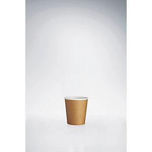 Bicchieri monouso in cartoncino, Capacità 100 ml, Marrone (confezione 1.000 pezzi)