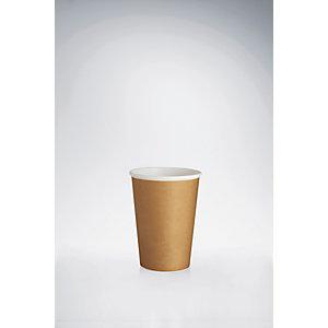 Bicchieri monouso in cartoncino, Capacità 200 ml, Marrone (confezione 1.500 pezzi)