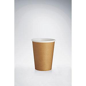 Bicchieri monouso in cartoncino, Capacità 280 ml, Marrone (confezione 500 pezzi)