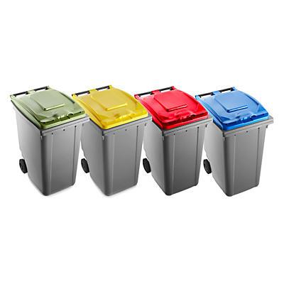 Bidone raccolta differenziata con coperchio colorato capacità 360 litri