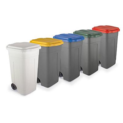 Bidone raccolta differenziata con coperchio colorato capacità 80 litri