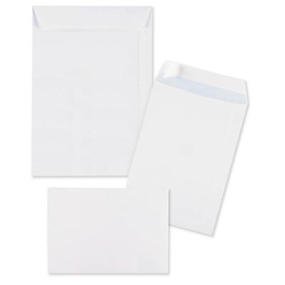 Biele zásielkové obálky samolepiace s ochránným prúžkom